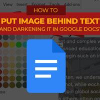 Jess Tura image behind text and darkening image google docs